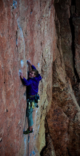 """Rock Climbing Photo: A.S. getting into the goods on """"Lats Don't Ha..."""