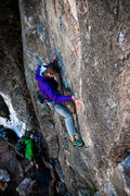 "Rock Climbing Photo: A.S. heading up for a soon to be onsight of ""..."