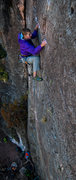 "Rock Climbing Photo: A.S. working the pockets on ""Enchanted Porkfi..."