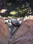 Rock Climbing Photo: Solid stems and jams in a v-slot corner - good tim...