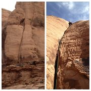 Rock Climbing Photo: The pitch from the trail and looking up at the rou...