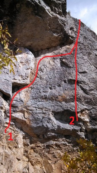 Rock Climbing Photo: 1 Concealment 2 Pale Shelter