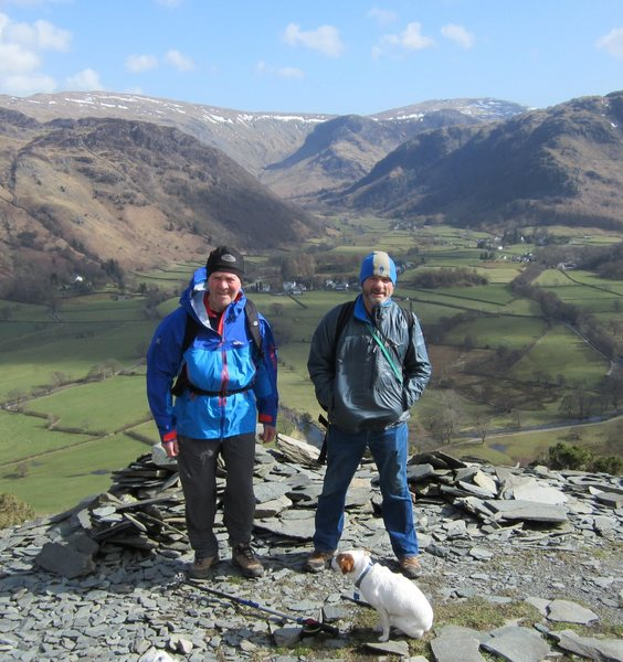 With Peter Lockey on Castle Crag .Borrowdale. UK April 2013..