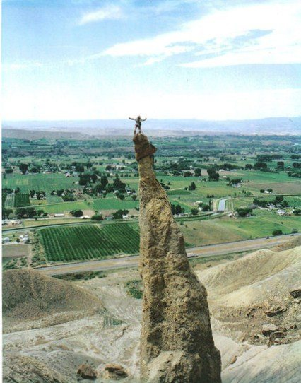FA Sword of Damocles. Palisade. Colorado P.Ross