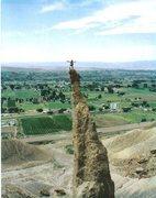 Rock Climbing Photo: FA Sword of Damocles. Palisade. Colorado P.Ross