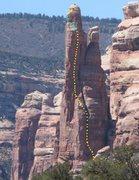 Rock Climbing Photo: East Face 800' C1 5.10. Texas Tower , Texas Canyon...
