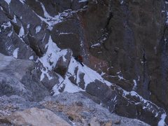Rock Climbing Photo: Nearing the belay on pitch 1.  Photo: Josh Thompso...