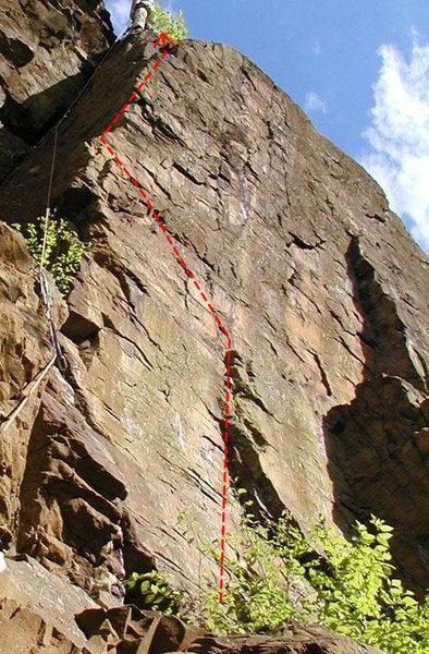 Rock Climbing Photo: The Fall of the House of Monticello, 5.11 TR. John...
