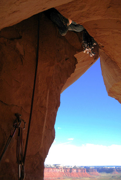 "Rock Climbing Photo: Kent ""The Sender"" disappears into the ma..."