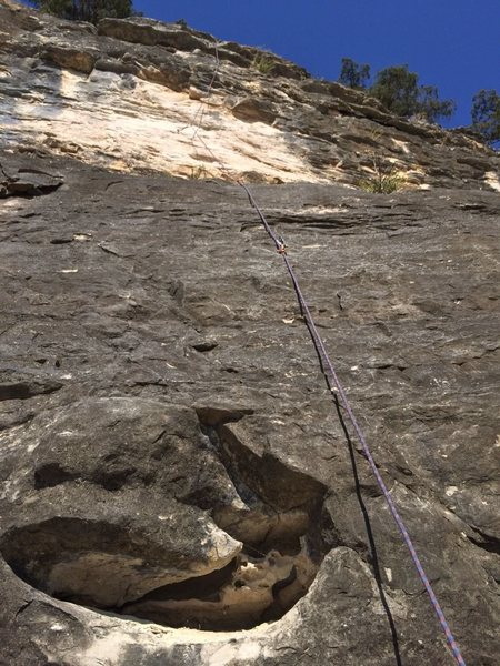 Rock Climbing Photo: A view from the base of double undercling