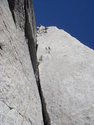 Rock Climbing Photo: 1st pitch of Great White Book, Manuel Spoerri, 09/...