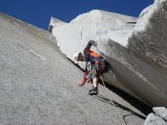 Rock Climbing Photo: 2nd pitch of Great White Book, Manuel Spoerri, 09/...