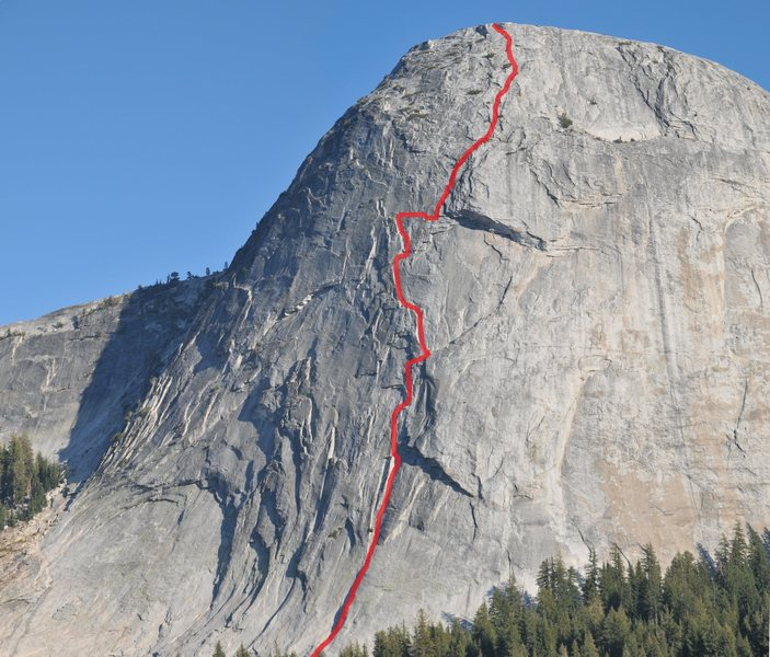 Rock Climbing Photo: Regular Route on Fairview Dome, 09/17/2010