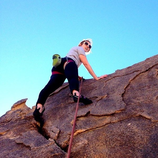 Rock Climbing Photo: Kat Greene atop the short climb directly across fr...