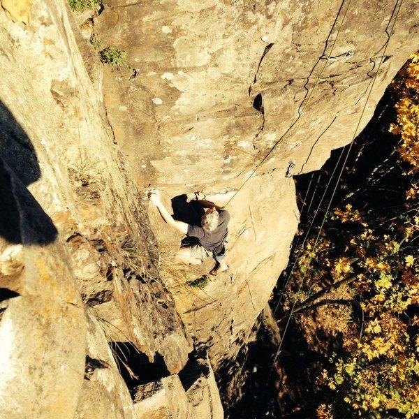 Rock Climbing Photo: Me on Kamikaze. Photo by Jon Zweig.