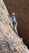 Rock Climbing Photo: Working up to the bulge on the lower portion of &q...