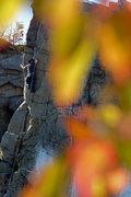 Rock Climbing Photo: Outside Corner on a Fall day.