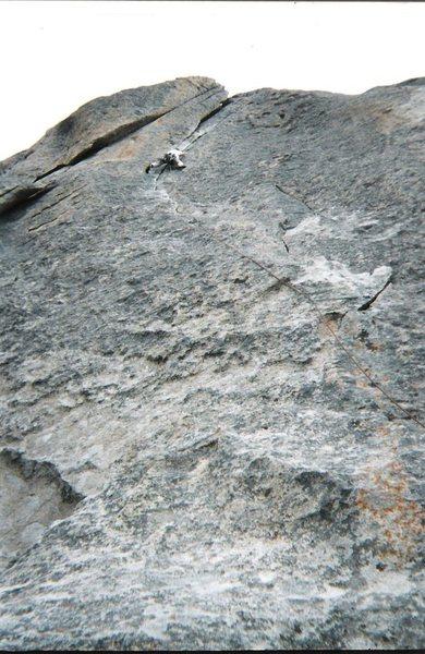 Rock Climbing Photo: Having fun on Wheat Thin