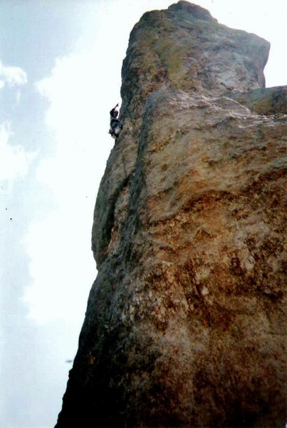 Rock Climbing Photo: Having fun on Totem Pole
