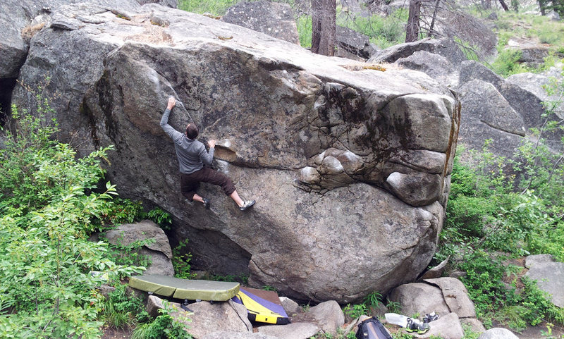 Rock Climbing Photo: Right hand ferret head
