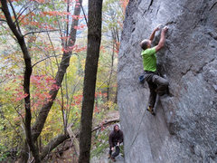 Rock Climbing Photo: Hmmm, looks slabby in the photos, but then looks c...