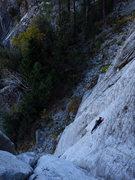 Rock Climbing Photo: Ninja moves on the P2 5.11 slab.   Photo: Corey Ga...