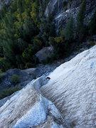 Rock Climbing Photo: P5 is mega. Climber or ant?  Photo: Corey Gargano