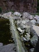 Rock Climbing Photo: Approach: cross the creek here.