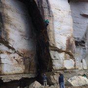 Rock Climbing Photo: Josh J. on Mutiny 10/19/13