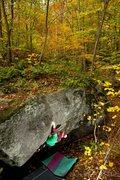 Rock Climbing Photo: Erika Curry-Elrod sticking the first big move on '...