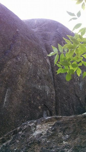 Rock Climbing Photo: Spotter view of Pancake.