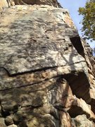 Rock Climbing Photo: here is the route generally.
