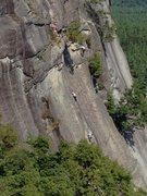 Rock Climbing Photo: climbers on thin air face (taken from recompense)