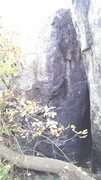 Rock Climbing Photo: This is the left boulder. 2 routes should come out...