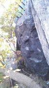 best view of left traversing line of left boulder