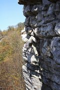 Rock Climbing Photo: Black Crack