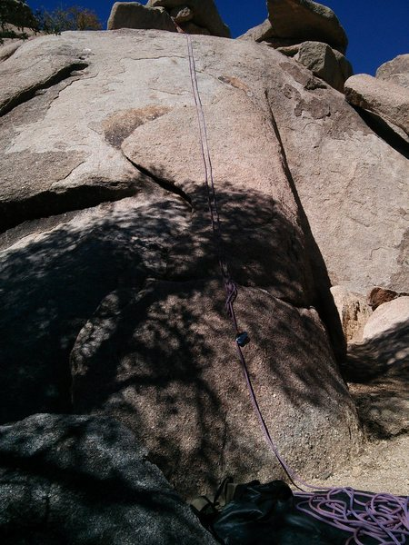Rock Climbing Photo: The LH lieback is 5.5;  The face is 5.6