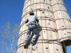 Rock Climbing Photo: on the silo