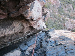 Rock Climbing Photo: Looking down from the top of the intended Pitch 1....