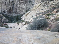 Rock Climbing Photo: Scamble down into Juniper Canyon and back to the b...