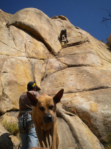 Rock Climbing Photo: Chris, Gary, and Bruzer on Dream Stream.