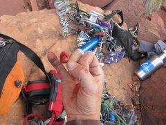 Rock Climbing Photo: my ring locks points got the service.. bad