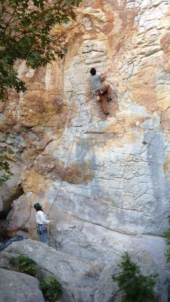 Rock Climbing Photo: fun on Super Grover. sandrock AL
