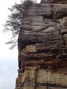 Rock Climbing Photo: Wendy's Jugs on the arete, the crack is to the rig...