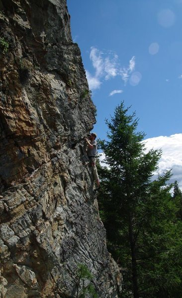 PKP approaching the crux of If 6 was 9 (Burge Mtn).