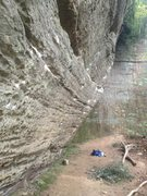 """Rock Climbing Photo: morning wood, 5.12a  """"this route may give you..."""