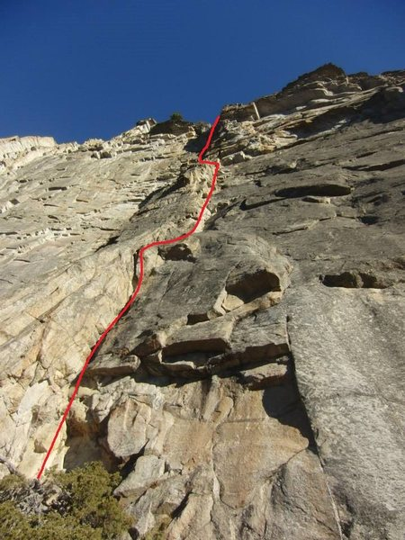 Rock Climbing Photo: Standard Route overview