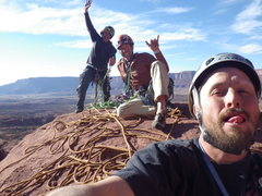 Rock Climbing Photo: a motley bunch up topside