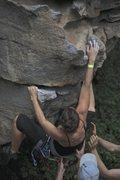 Rock Climbing Photo: Climbing at Horseshoe Canyon Ranch