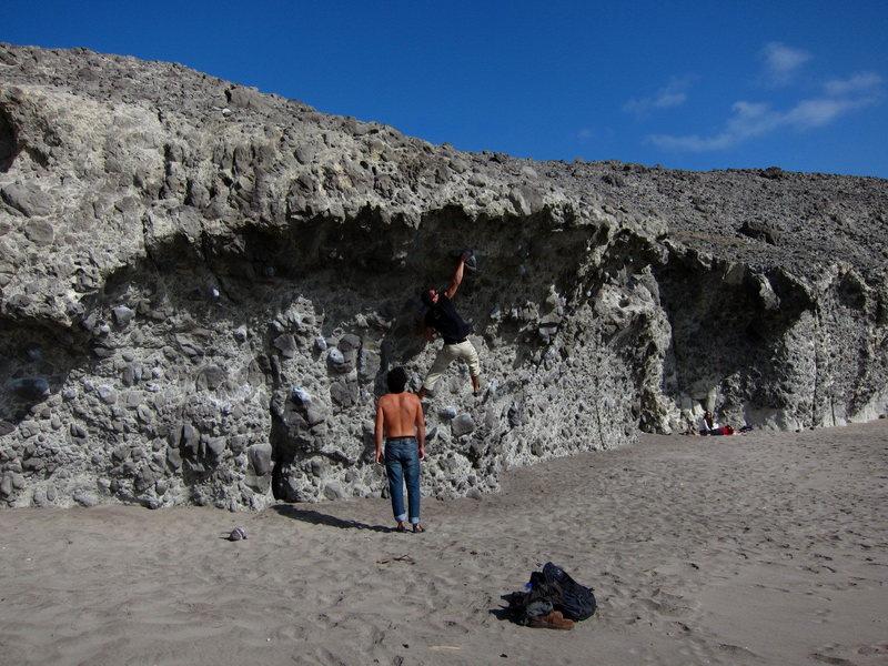 Rock Climbing Photo: Bouldering at Playa de Monsul, Cabo de Gata